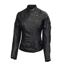 RSD WOMEN LEATHER JACKET RIOT Black