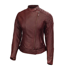 RSD WOMEN LEATHER JACKET RIOT Oxblood