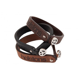 HELSTONS LEATHER BRACELET PEACE