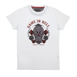HELSTONS T-SHIRT CHEVIGNON GAME WHITE 쉐비뇽 게임 화이트