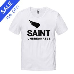 SA1NT UNBREAKABLE TEE WHITE