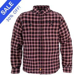 SA1NT ARAMID LINED FLANNEL JACKET BLACK-RED
