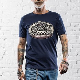 HOLYFREEDOM T-SHIRT GHOSTRIDER BLUE 고스트라이더 블루