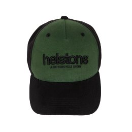 HELSTONS TRUCKER CAP CORPORATE BLACK/GREEN